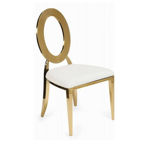 gold oval back chairs